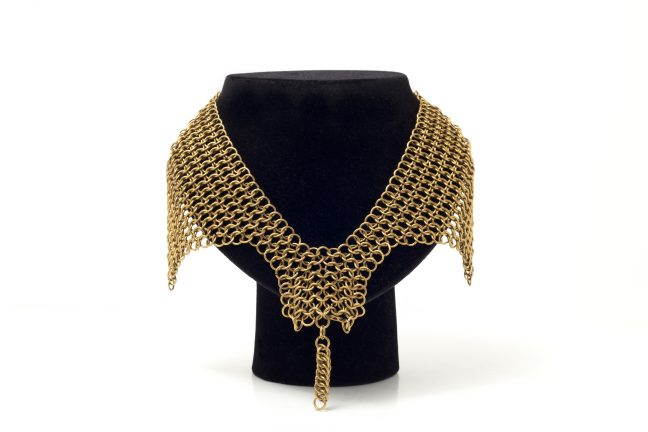 Brass Chainmaille necklace